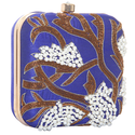 Blue Moti Work Clutch Bag