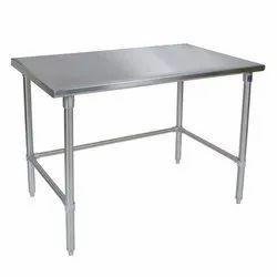Polished steel tables
