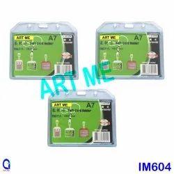 Transparent Case Rubber Badge A7, 10 Pieces