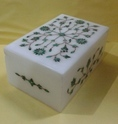 White Marble Jewellery Storage Box