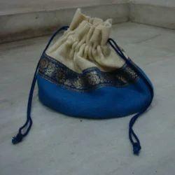 Designer Jute Pouch Bag