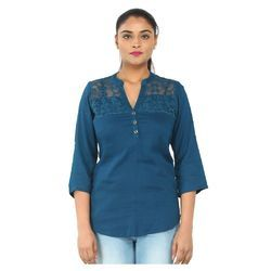 Small And Medium Blue Ladies Trendy Top