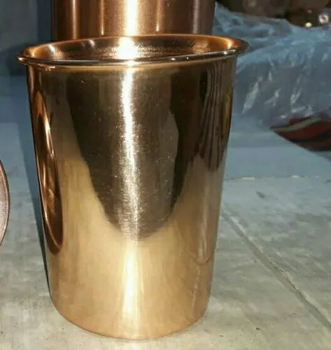 Divian Cylindrical Pure Copper Tumbler, for Drinking Water