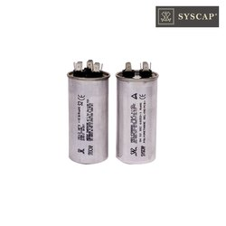 Syscap Motor Run Aluminium Dual Value Burst Proof Seamed Capacitors