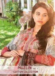 Juvi Fashion Muzlic Vol-1 Cotton Collection Pakistani Style Dress Material Catalog Collection