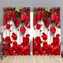 HD Flowery Digital Curtain
