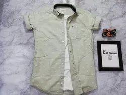 100% Cotton Men Casual Shirt, Size: M L Xl Xxl