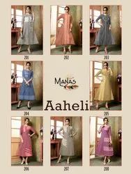 Aheli Handloom Cotton Fancy Kurti