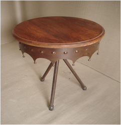 RD EXPORT IRON ROUND TABLE