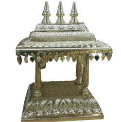 Bronze Hand Sculptured Puja Temple
