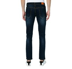 Dark Blue Denim Men's Slim Fit Stretchable Jeans, Size: 30 To 44
