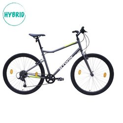 BTwin Riverside 120 Grey Yellow Hybrid Cycle