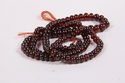 Hessonite Garnet Plain Roundel Shape Beads