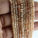 Natural Brown Zircon Micro Faceted Beads