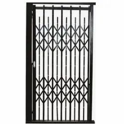 Black Mild Steel MS Collapsible Gates, For Residential