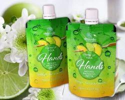 PVC Lemon Juice Packaging Pouches, 250 Ml