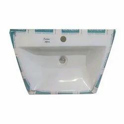 Wall Mounted White Ceramic Bathroom Basin