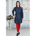 Ladies Full Sleeves Designer Denim Kurti