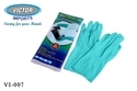 Unisex Sky Blue Chemical Resistant Gloves