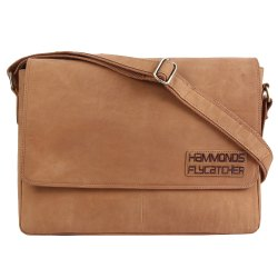 Hammonds Flycatcher Original Bombay Brown Leather 15 Inch Laptop Messenger Bag