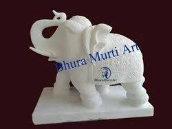 White Elephant Stone Statue