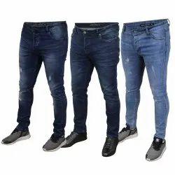 Plain Skin Fit Mens Ripped Denim Jeans, Waist Size: 30 - 40