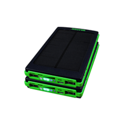 Black and Green Waaree Solar Mobile Charger, Capacity: 10000 Mah Li-polymer Battery, 5 Vdc, 1 Amp(input Power)