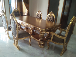 Aarsun Woods Teak Wood Wooden Royal Dining Set, Size: 66 X 42 X 30 Inch