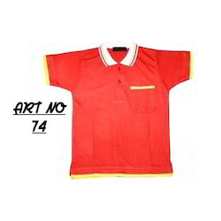 Red School Polo T Shirt