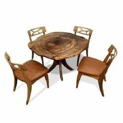 Wooden Restaurant Table and Chair Set