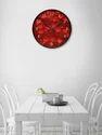 999Store Printed Heart Wall Clock