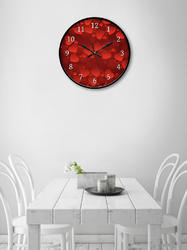 Red 999Store Printed Heart Wall Clock, Size: Custom
