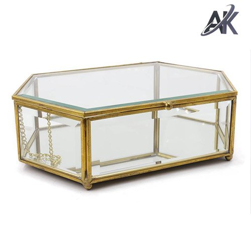 AK Handicrafts Metal & Glass Boxes