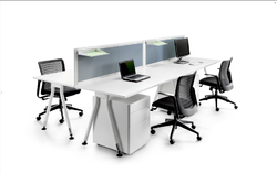 4 Way Office Executive Workstation