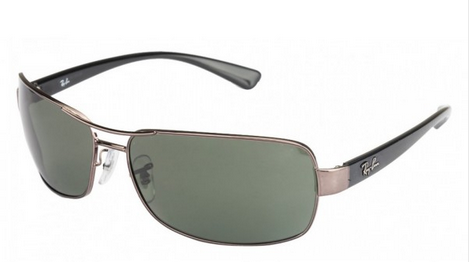 71e42fb603 RB3379 004 58 Gunmetal and Green Polarised Men Steel at Rs 8490 ...