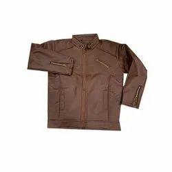 Biker Jackets Mens Brown Pu Leather Jacket