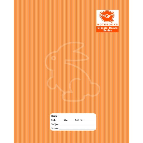 INQFY Single Line Animal Print Writing Notebook, Paper Size: 19.5x15.5 cm