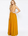 Satin + Crepe Fabric Xl And Xxl) Functional Wear Barbie Yellow Gown Oro G-58