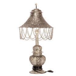 White Metal Big Table Lamp