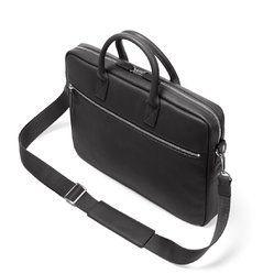 High Quality Faux Leather Black Unisex Laptop Bag