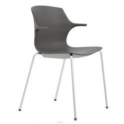 Plastic Grey Waiting Chair