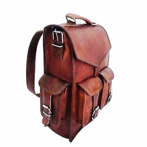 b481c868aa2e Men Leather Vintage Backpack Bag