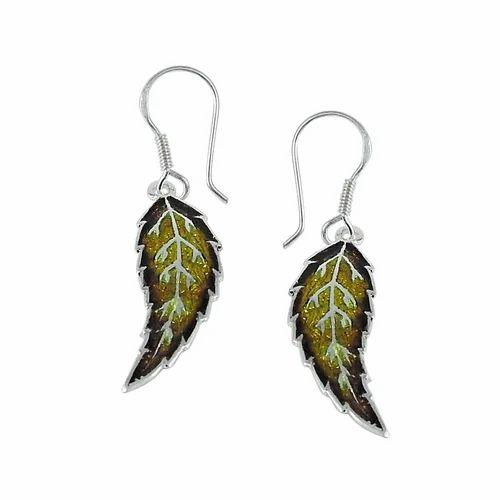 Inlay 925 Sterling Silver Earrings