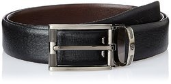 Titan Reversible Men's Black And Brown Leather Belt