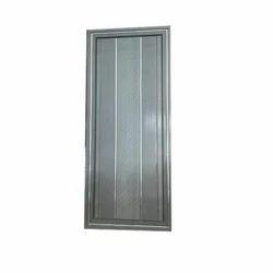 Grey Aluminium Bathroom Door, Thickness: 0.75 inch