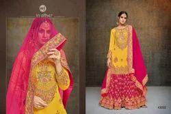 Full Sleeve Round Neck Sarara Salwar Suit