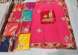 Gota Patti work jaipuri saree