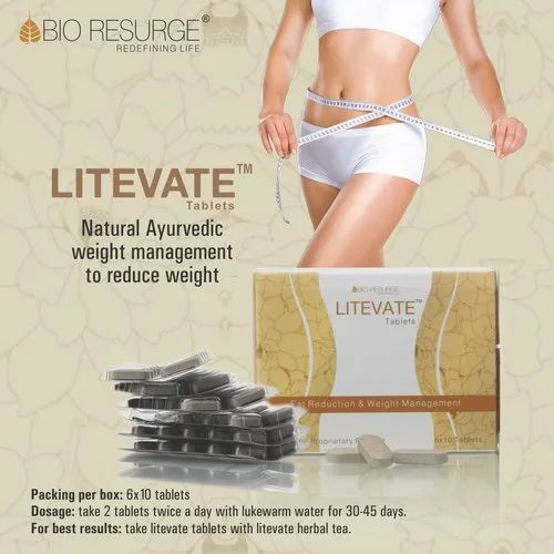 Bio Resurge Litevate Tablets For Fat Reduction And Weight Management