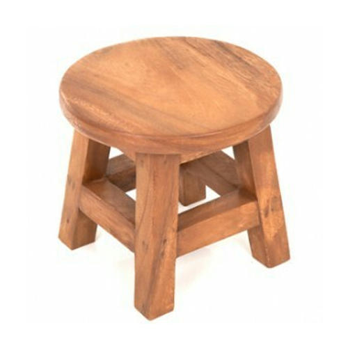 Brown Small Wood Stool, Rs 1050 /piece, S A Handicrafts