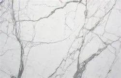 Polished Finish Indian marble CARRARA WHITE, Slab, Thickness: 20-25 mm